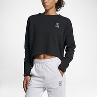 The NikeCourt Women's Long Sleeve Tennis Top.