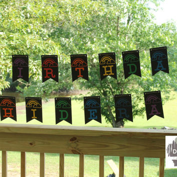 Personalized Birthday Banner - Rainbow