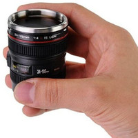 Mini Camera Lens Stainless Steel Thermos Travel Mug Gift