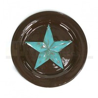 8.5 in Salad Plate - Star Turquoise