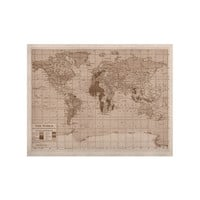"Catherine Holcombe ""Emerald World"" Vintage Map KESS Naturals Canvas (Frame not Included)"