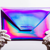 violet holographic notebook case for Apple Macbook