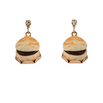 N2 by Les Néréides GOURMET COFFEE CHOCOLATE CHOUX BUN EARRINGS