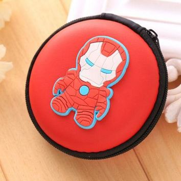 Brand New Marvel Comics Iron Man Red Round Purse Coin Bag