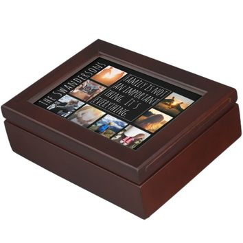 Personalized Eight Frame Quote Keepsake Box