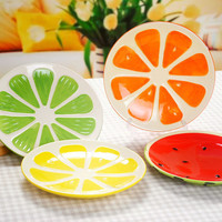Creative Glazed hand Painted Ceramic Fruit Plate Home Dishes