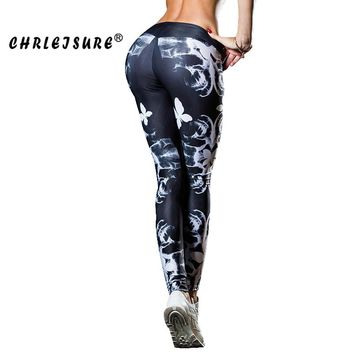 Fitness Leggings Butterfly Conventional Stitching Legging