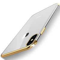 Luxury Clear Case for iphone 6s 6 s Plus iphone 7 7plus Case Soft TPU Fundas Coque Cover for iphone 8 7 Plus iphone X 10 Cases