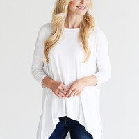 White PIKO Handkerchief Top
