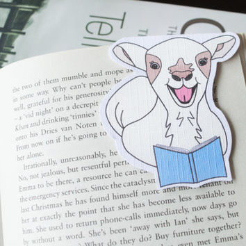 Magnetic bookmark of Beehrt the Sheep! Book accessories, Childrens art, School supplies, Book gift, Animal collectibles, BOOK FARM ANIMALS