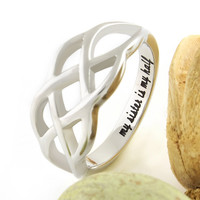 "Sister Ring, Infinity Ring, Promise Ring for Sister, The engraving says: ""My Sister Is My Half """
