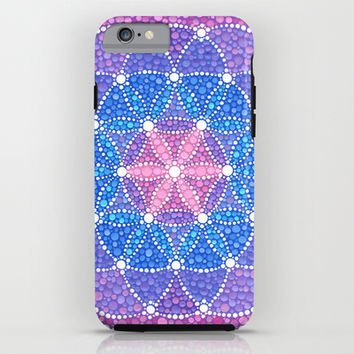 Starry Flower of Life iPhone & iPod Case by Elspeth McLean
