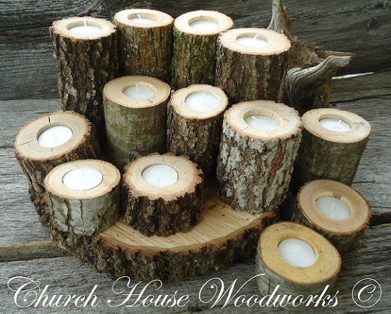 Tree branch candle holders rustic from
