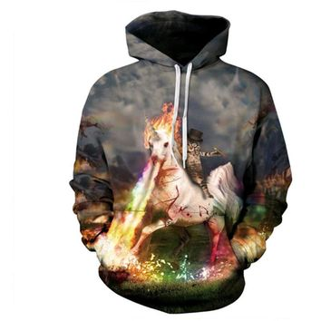 Unicorn and Knight Cats 3D Printed Hoodie