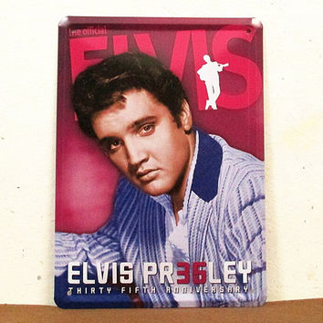 Rock& Roll Singer Elvis Presley Tin Metal Sign Poster Music Zone Decor  15*20cm  Home Decor