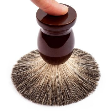 Man Pure Badger Hair Shaving Brush 100% Original for Double Edge Safety Straight Classic Safety Razor 9.9cm x 4.6cm