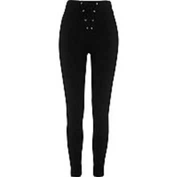 Black corset leggings
