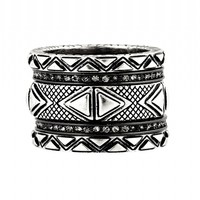 House of Harlow 1960 Jewelry Mesa Stack Rings Silver