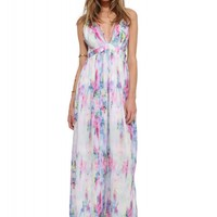 Radiant Water Color Maxi Dress