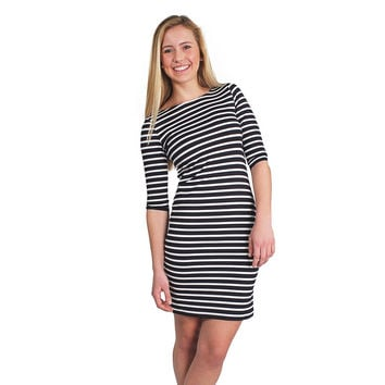 Propriano II Dress in Navy with White Stripes by Saint James