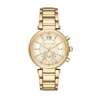 Michael Kors Sawyer Yellow Gold-Toned Stainless Steel Ladies Watch