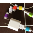 Hot sell 2pcs candy color charging line protection data cable headset protection Earphone protector For iphone For ipad line (Color: Multicolor)