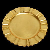 Gold Charger Plate with Fluted Edge (13 Inch) on sale from PaperLanternStore.com!
