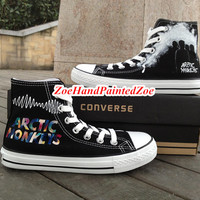 Arctic Monkeys Converse Custom English Indie Rock Design High Top High Quality Hand Painted Shoes Custom Converse Shoes Unique birthday gift