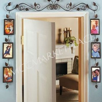 Unique Doorway Photo Display Sconce Vine Art Decor - Pictures of Family & Friends - Great Gift!
