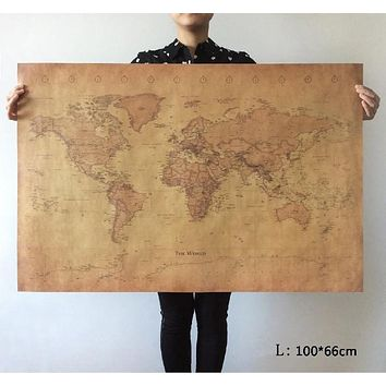 Choose size: The old World Map huge large Vintage Style Retro Paper Poster Home wall decoration
