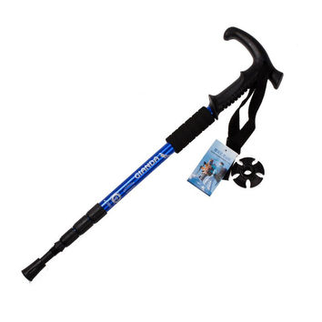 Ourdoor Hiking Stick Walking Trekking Trail 50-110cm Poles Ultralight 4-section Adjustable Canes Mountain Climbing Accessories