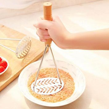 Stainless Steel Easy Life Masher Potato Press Mashed Mould Fruit Sweet Potato Mud Masher kitchen Accessories