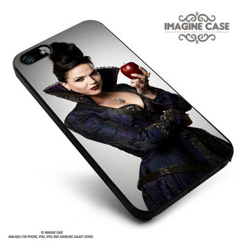 ONCE UPON A TIME-THE EVIL QUEEN HOLDING APPLE case cover for iphone, ipod, ipad and galaxy series