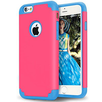 iPhone 6s Case,iPhone 6 Case,[4.7inch]by Ailun,Soft Interior Silicone Bumper&Hard Shell Solid PC Back,Shock-Absorption&Skid-proof,Anti-Scratch Hybrid Dual-Layer Slim Cover[Rose]