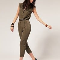 River Island | River Island Military Jumpsuit at ASOS