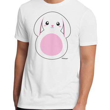 TooLoud Cute Bunny with Floppy Ears - Pink Men's Sublimate Tee