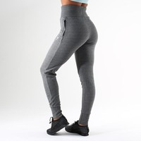 Gymshark High Waisted Joggers - Charcoal Marl