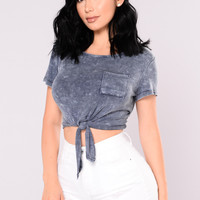 Dinah Crop Top - Denim