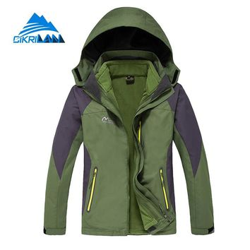 3in1 Windstopper Waterproof Winter Outdoor Jacket Men Sports Hiking Camping Skiing Coat Fleece Liner Hooded Jaqueta Masculino