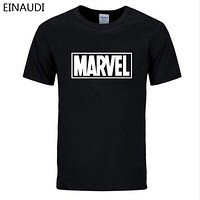 New Fashion MARVEL men cotton short sleeves Casual male marvel t shirts men tops tees