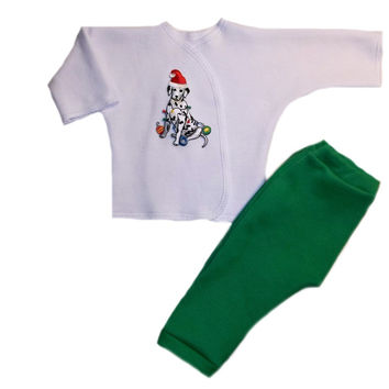Unisex Baby Silly Dalmatian Christmas Clothing Outfit