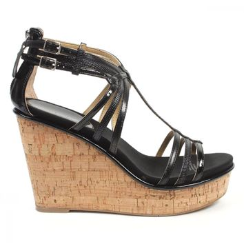 Nine West Womens Espadrille Wedge Sandal NWROMANCING BLK MULTY