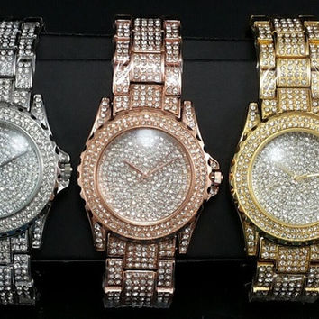 MERRYLIFE Women Blingbling Watches  Luxury Party Rhinestone Watch = 1956581828