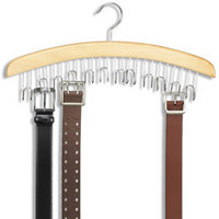 Natural 12-Belt Hardwood Hanger