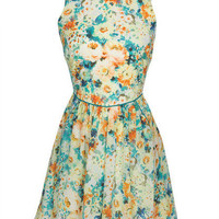 Floral Pocket Front Dress