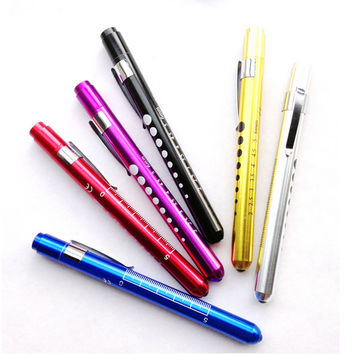 Mini Medical Surgical Doctor Nurse Emergency Reusable Pocket Pen Light Torch Flashlight For Working Camping