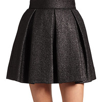 Rafia Pleated A-Line Skirt