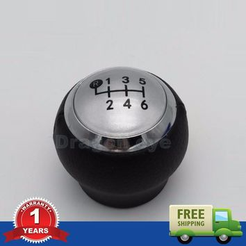 Free Shipping For Toyota RAV4 AVENSIS YARIS D4D URBAN CRUISER ALTIS SCION TC Car Shift Gear Knob 6 Speed Covered Leather