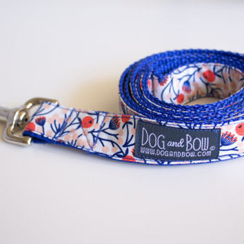 Floral Dog Leash by Dog and Bow