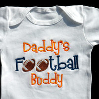 Football Baby Boy Clothes Daddy's Football Buddy Sports Baby Outfit